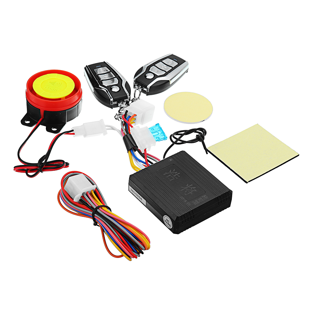 Universal Motorcycle Bike Scooter Anti-theft Security Alarm System Remote Control Motorcycle Theft Protection