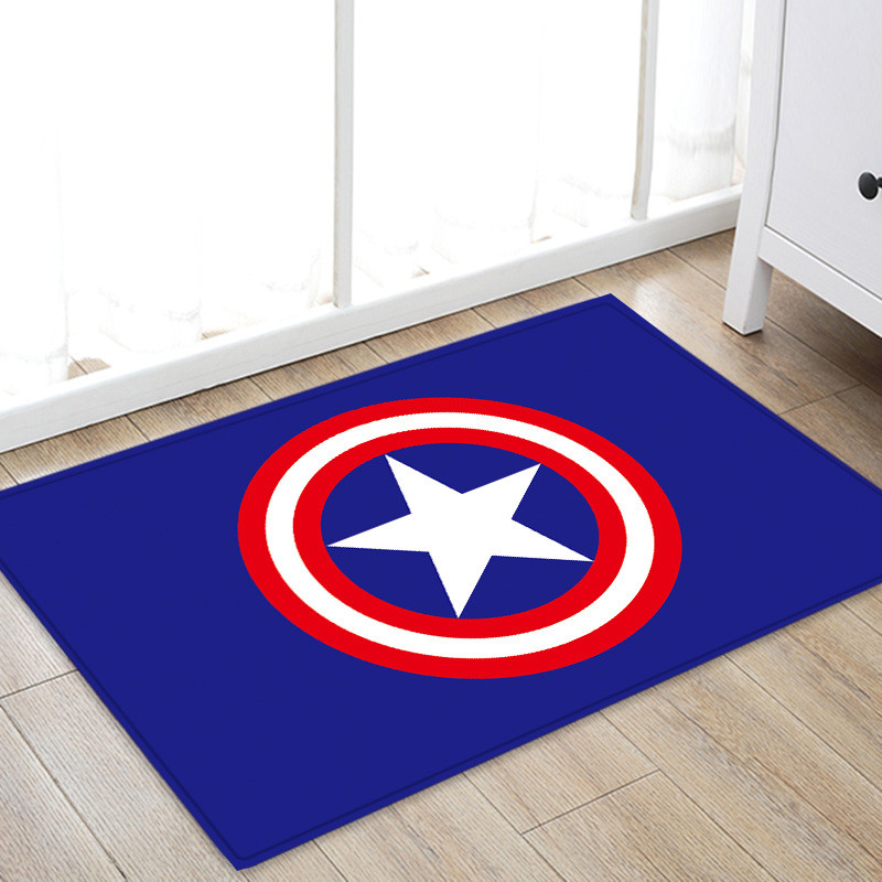 Disney Soft Comfortable Floor Mats Antislip Rugs Batman Spiderman Ironman Cartoon Carpets Bathroom Kitchen Rug Doormats