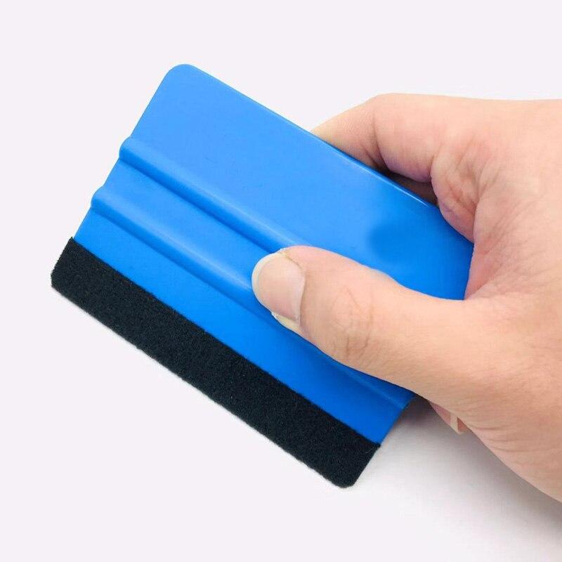 Blue Felt Squeegee Vinyl Film Wrap Tool Fabric Scraper Tinting Tools Window Glass Wash Tools Auto Car Cleaning Tools electric blue