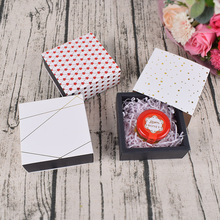 5 Pcs Gift Candy Box For Wedding Party Birthday Bronzing Small Drawer Paper soap Chocolate cookies jewelry Packaging