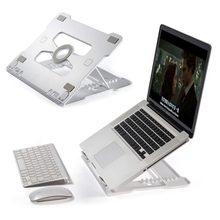 ユニバーサルポータブルラップトップスタンドノートブックスタンドホルダー折りたたみアルミ冷却調整可能なサムスン MacBook Air 13 プロ