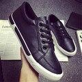 Мода 2016 Мужские кожаные Босоножки, Шлепанцы Досуг Дизайнер Баллок Мужская Обувь Качество Новый оригинальный Белый Черный бренд Случайные обувь