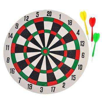 1 Set Double Sided Dart Board & Darts Game Set Perfect For Man Cave Game Room Kids Decoration
