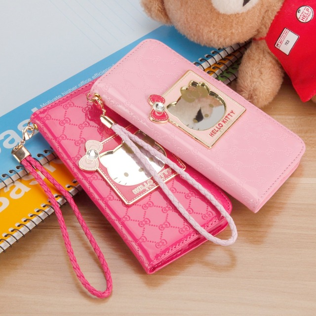 74480ed57 Fashion Women For iPhone X Phone Case Luxury Wallet hello kitty Magnetic  Flip PU Leather Cover For iPhone 6 6s 7 8 plus Case