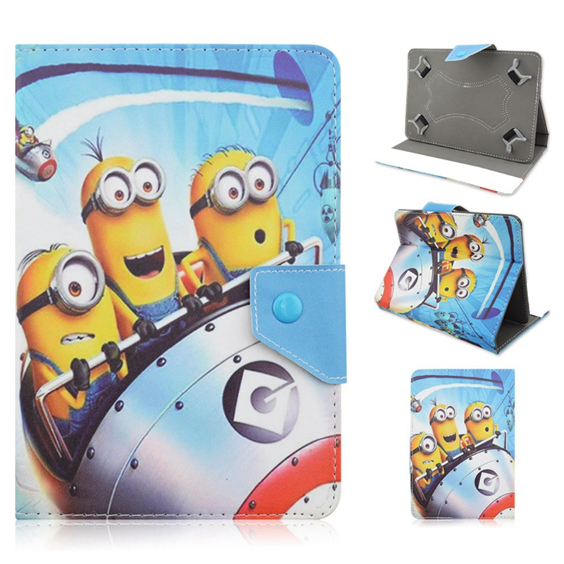 Latest Despicable Me Series 7 Inch Universal Cartoon Stand Cover Case For iPad Mini 1 Mini 2 3 4 For Samsung Galaxy Tab 2 Tablet pu leather case for ipad mini 1 2 3 7 8 inch universal tablet cover for ipad mini 4 sleeve for samsung tab 3 4 t110 t230 t350