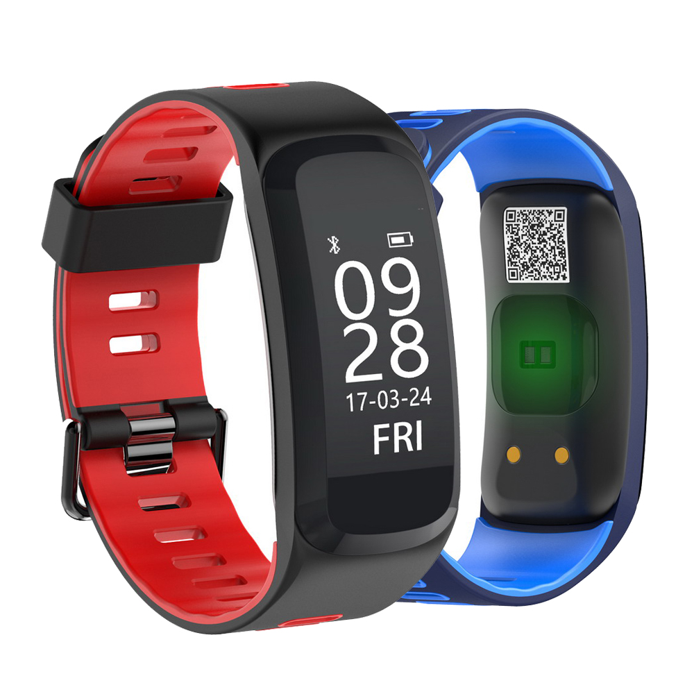 RUIJIE F4 Smart Bracelet IP68 Waterproof Blood Pressure Blood Oxygen Heart Rate Monitor 0.96 OLED Smart Band for IOS Android