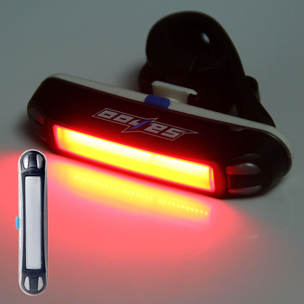 Super Bright Bike Rear Safety Lamp 3 LED Tail Warning light USB Rechargeable Red
