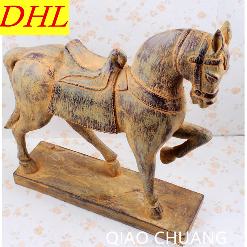 Chinese Style Archaize Unearthed From The Horse Sculpture Creative Resin Craftwork Home Furnishing Articles S452 dentist gift resin crafts toys dental artware teeth handicraft dental clinic decoration furnishing articles creative sculpture
