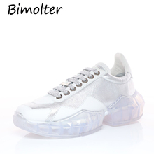 Bimolter 2019 Plus Size 33-43 Platform Shoes Women Fashion Sneakers Thick Sole Chunky Cow Leather Upper NC071