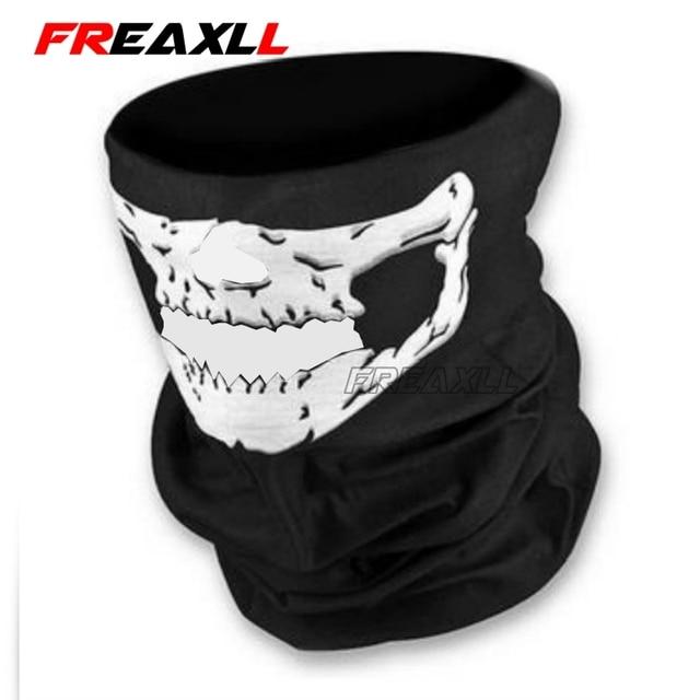 Motorcycle CS Ghost Skull Hood Full Face Mask Ski Sport Helmet Biker Motorcycle Half Face Mask Neck Scarf Headwear 3