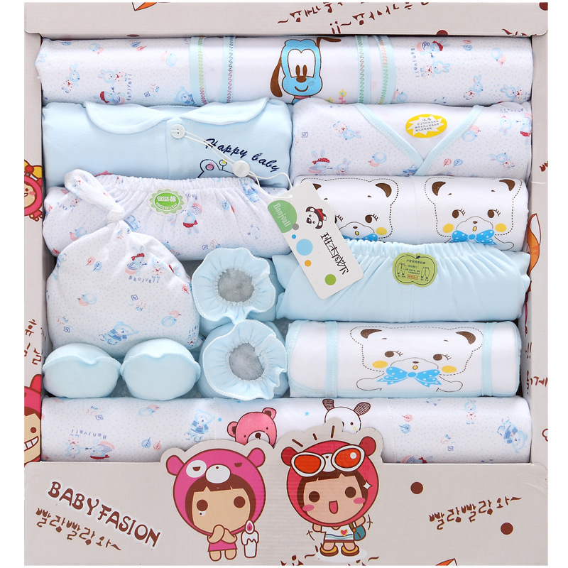 Hot 18 Pcs new born baby Supplies Newborn Gift Set Baby boy girl Infant Clothing Set Baby Clothing High Quality in Clothing Sets from Mother Kids