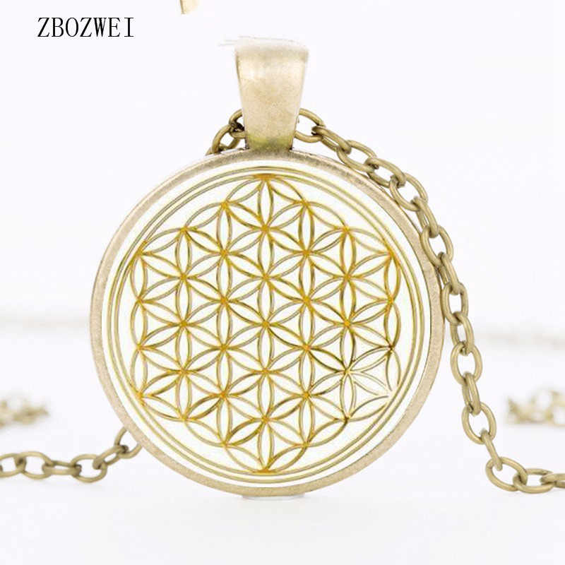 Detail Feedback Questions about Fashion Mandala Flower of Life Gold