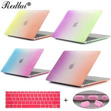 Redlai Rainbow Matte Case For Macbook Pro 13 15 Case 2016 model A1706 A1708 A1707 w/out Touch Bar Pro Retina 13 15 Air 13″ Cover