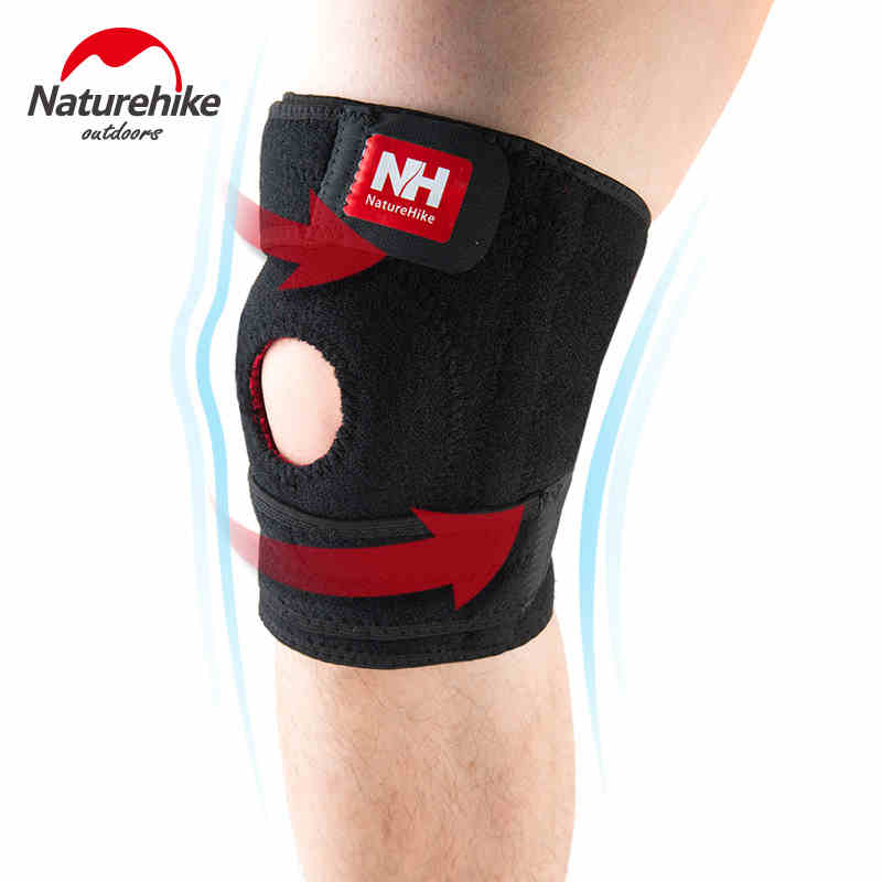 NatureHike Elastic Knee Support Knee <font><b>Pads</b></font> Brace Kneepad Volleyball Basketball Safety Guard Strap Running Riding Left Right M L