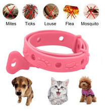 1PC Neck Ring Leave Away From Flea Tick Mite Louse Remedy Pet Supplies Pet Dog Cat Collar(China)