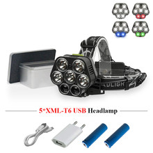 super power headlight CREE xml t6 light source head lamp waterproof camping headlamp usb 18650 fishing head light head torch(China)