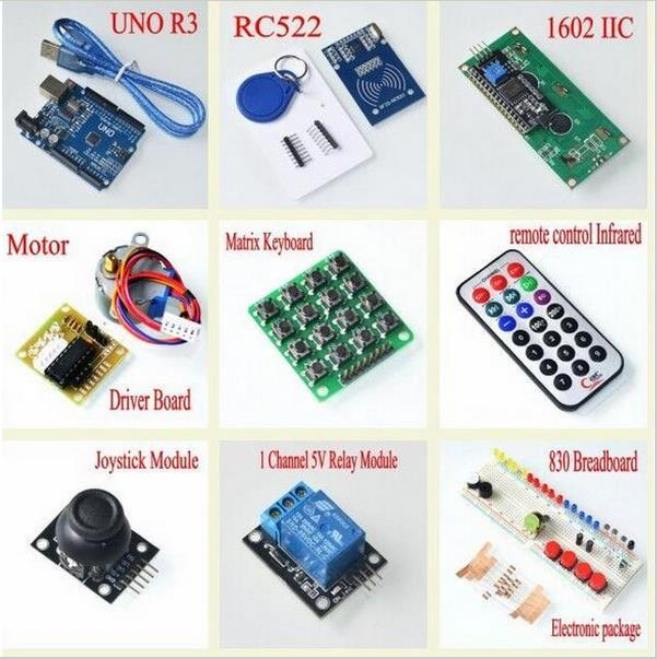 Closeout DealsFree Shipping Upgraded Advanced Version Starter Kit the RFID learn Suite Kit LCD 1602