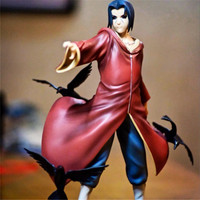 1pc/lot Naruto Uchiha Itachi 1/8 Scale Painted Figure Uchiha Itachi Anime PVC Action Figure Collectible Model Toy With Box 17cm