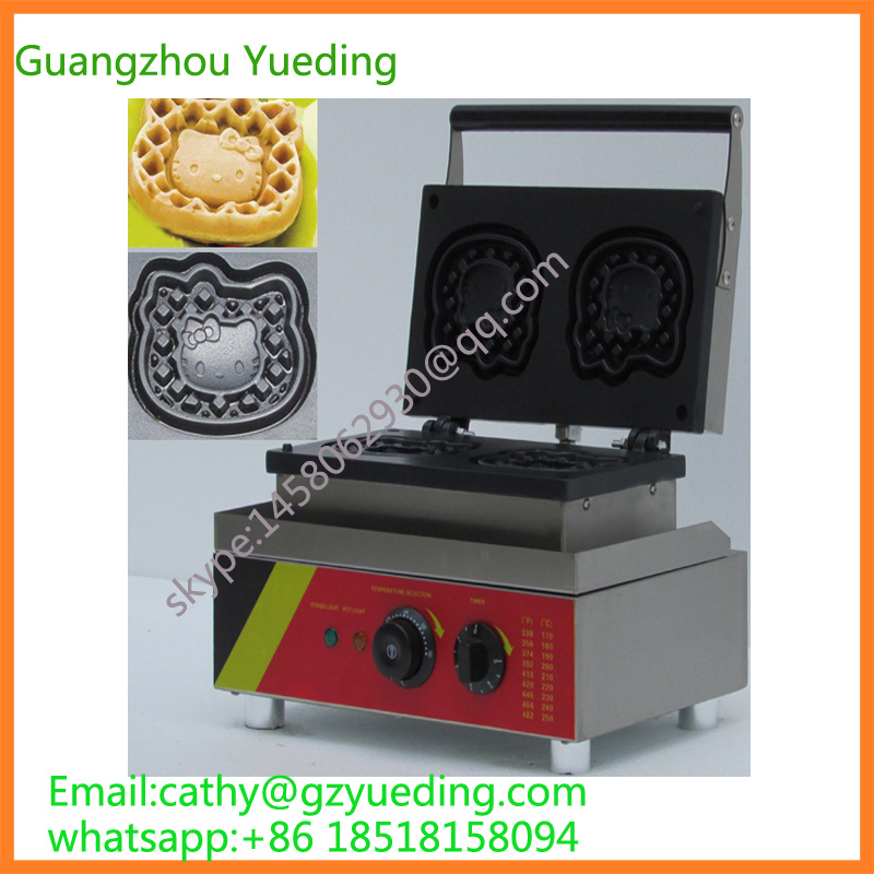 Hello kitty shape waffle making machine cartoon cat waffle baking catring equipment waffle makerHello kitty shape waffle making machine cartoon cat waffle baking catring equipment waffle maker