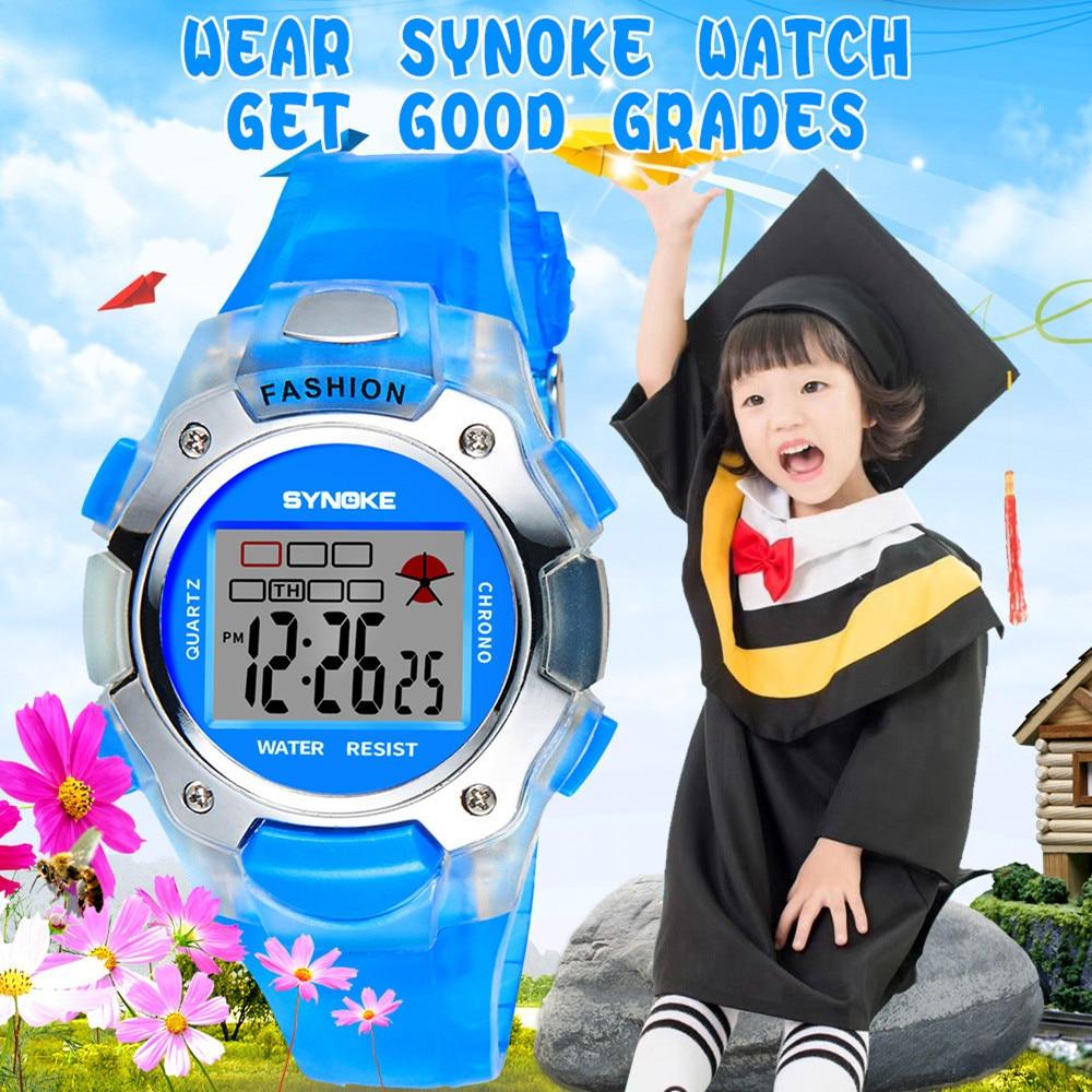 SYNOKE Multi-Function 30M Waterproof Watch LED Digital Double Action Watch