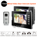 "New Home Wired Video Door Intercom System Rainproof Doorbell Camera 2x 7"" LCD Monitors IR Night Vision For Apartment In Stock"