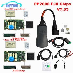 Image 1 - Chuyên Nghiệp Full Chip Lexia3 PP2000 Mới Nhất Diagbox V7.83 Vàng Edge 12 Tiếp 7 Chiếc Optocouplers Lexia PP2000 Lexia 3
