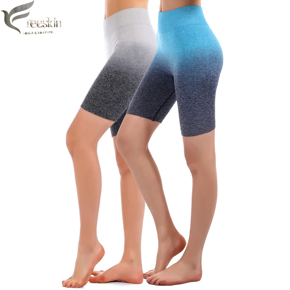Zhangyunuo Women's Knee Length Yoga Shorts Quick Drying