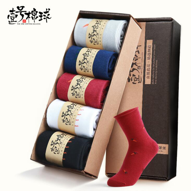 USEEMALL 5 Pairs / Lot Mujeres Calcetines Calcetines Divertidos - Ropa de mujer