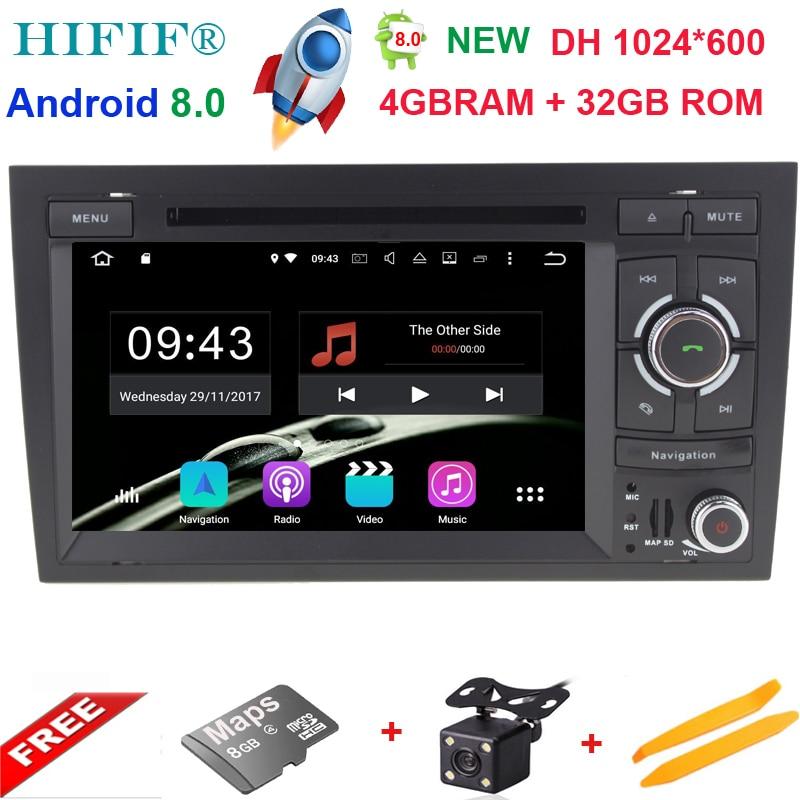 4 + 32G 2 Din 7 ''Android 8.0 Octa Core Radio Lecteur DVD de Voiture pour Audi A4 B6 B7 S4 B7 B6 RS4 2002-2008 RS4 B7 SEAT Exeo 2008-2012