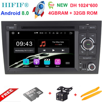 4+32G 2 Din 7'' Android 8.0 Octa Core Radio Car DVD Player for Audi A4 B6 B7 S4 B7 B6 RS4 2002 2008 RS4 B7 SEAT Exeo 2008 2012