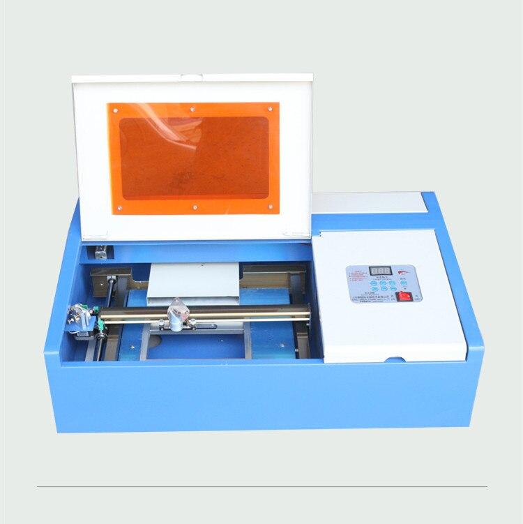 Preço barato mini 40 W 3020 CO2 máquina engraivng laser 300x200mm área de trabalho