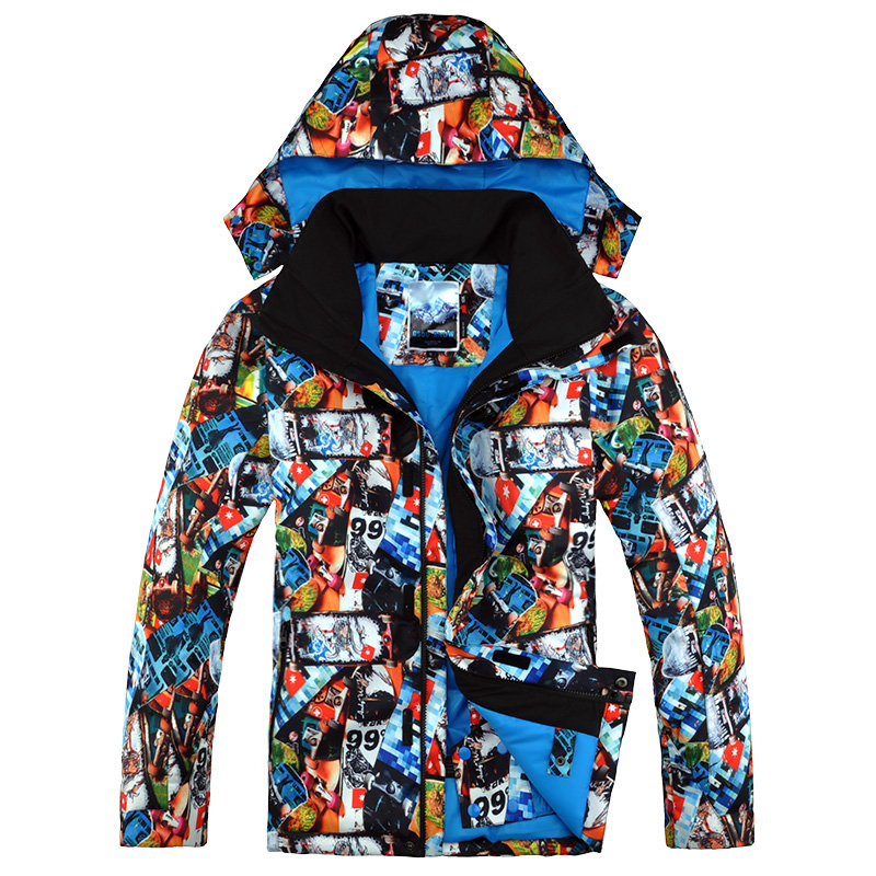 2019 Men Gsou Snow Super Warm Ski Jacket Windproof Waterproof Outdoor Sport Wear Camping Riding Skiing Snowboard Clothing Coat