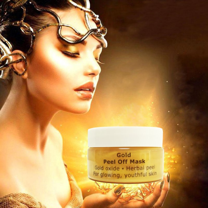 Face Care Masks Beauty 24 K Moisturizing Contraction Of Tearing Pores Yellow Gold Peel Off Mask Skin Care Cosmetic New 2018