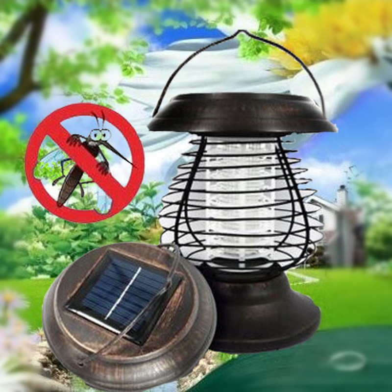 Chiclits Solar Power Mosquito Killer Light Convenient Portable UV LED Pest Killing Lamp Outdoor Camping Waterproof Bug Repellent befeel portable environmental protection mosquito killing lamp