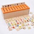 Montessori Early educación de la serie juguete dominó de madera criatura bloquea a los niños de inteligencia Learning Blocks Brinquedos W062