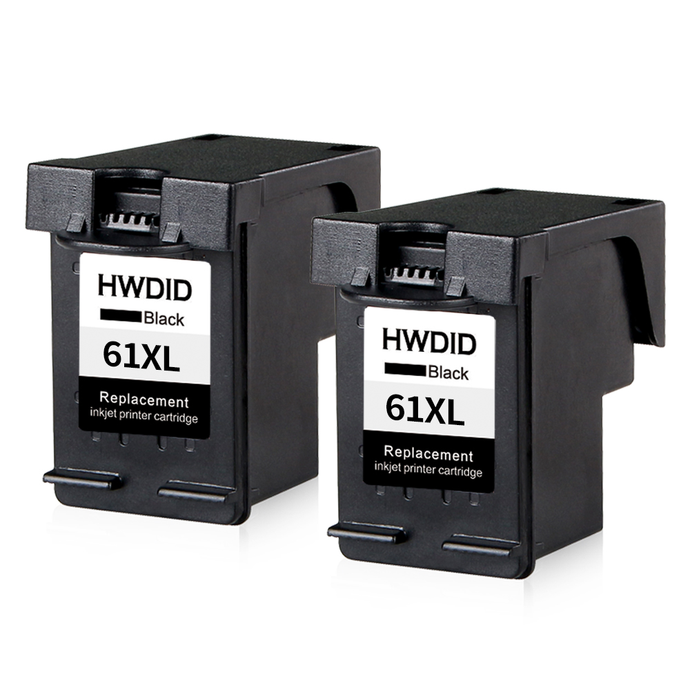 2pcs 61XL BLACK Ink Cartridge for HP 61 XL cartridge use for HP dj 1000 1010