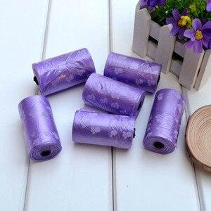 10 горячих рулонов разлагаемые пластиковые собаки кошки отходы мешок с печатью собачьи мешки товары для домашних животных хогард