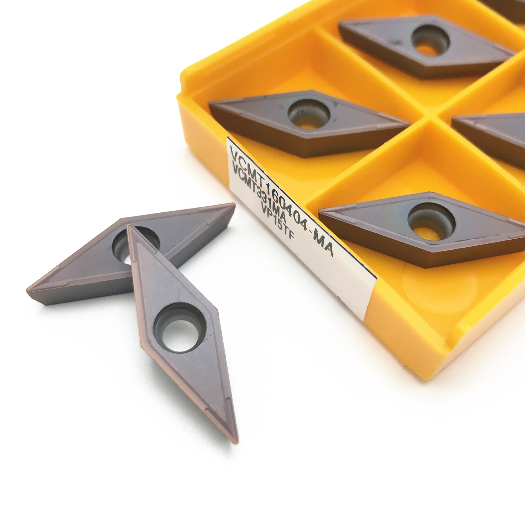 10PCS Carbide Insert VCMT160404 MA VP15TF UE6020 External Round Metal Milling Tool VCMT 160404 Lathe CNC Turning Tool VCMT160408