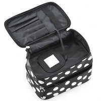 10 Pcs of (VSEN Hot StyleBlack Polka Dots Travel Cosmetics MakeUp Bags Beauty Organiser Toiletry Purse)