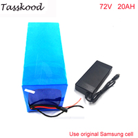 Samsung cell 72V 20AH Li ion Battery Pack for 72v 2000w Electric Bicycle Battery ACCU With BMS+Charger