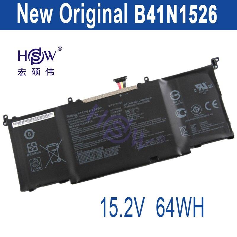 HSW New 15.2V laptop batteries for GL502VT,S5VT6700-158AXDA6X30,-1A,ROG Strix GL502,B41N1526,ROG S5VT6700 bateria akku laptop batteries for asus gl552 zx50 j jx j vw fx plus fx pro 6700 rog jx4720 rog v 4200 fx50jk 15v 4 cells