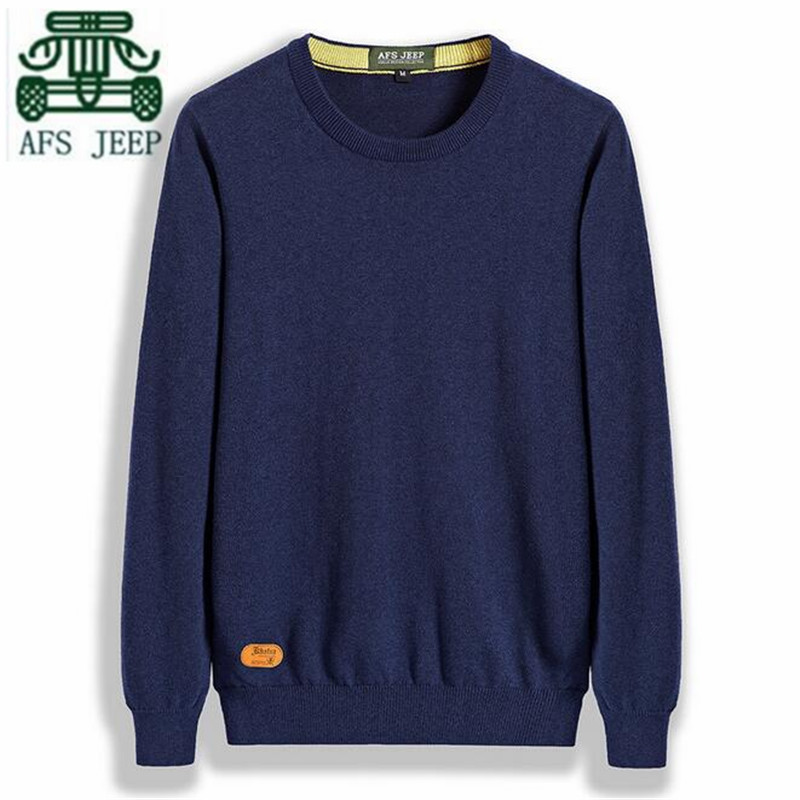 AFS JEEP Candy Color O neck Man s Fashion Winter sweater New Design Good Quality Man