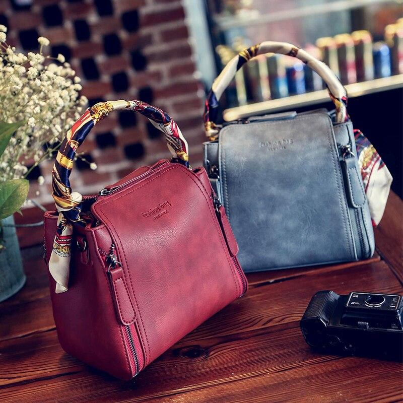 Bags fashion vintage bucket bag silk scarf handbag fashion messenger bag handbag women's