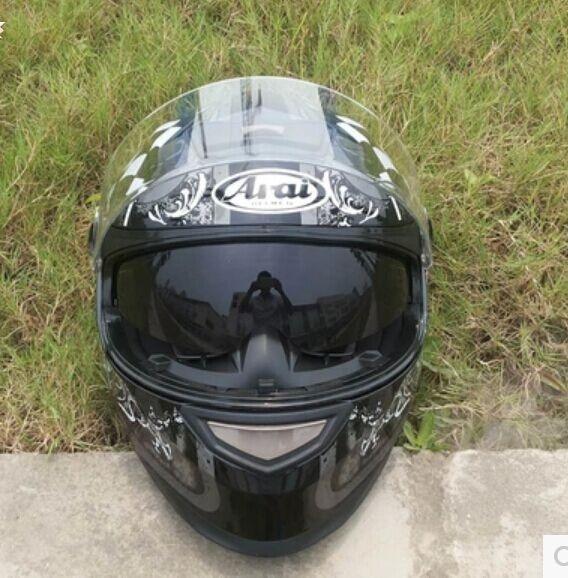 2015 new full-face helmet run double lens helmet motorcycle helmet stunning color skull free shipping