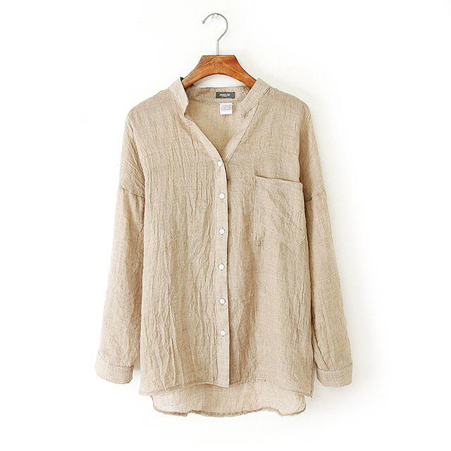 Mulheres Roupas Partes Superiores das mulheres Camisas Soltas Blusas de proteção Solar Camisa Plus Size Roupas Femininas Mulheres Blusa De Linho Branco