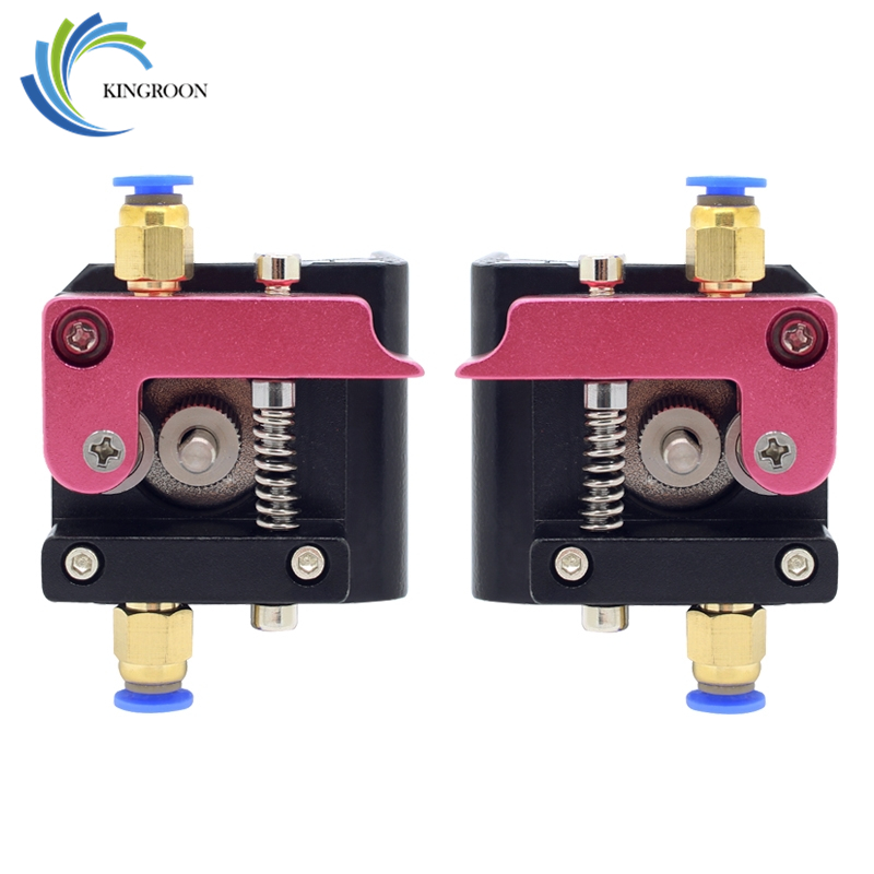 MK8 Remote Extruder Aluminum Alloy Left Right Hand Arm Bracket Part For 1.75mm Filament Extrusion 3D Printers Parts Red Bowden