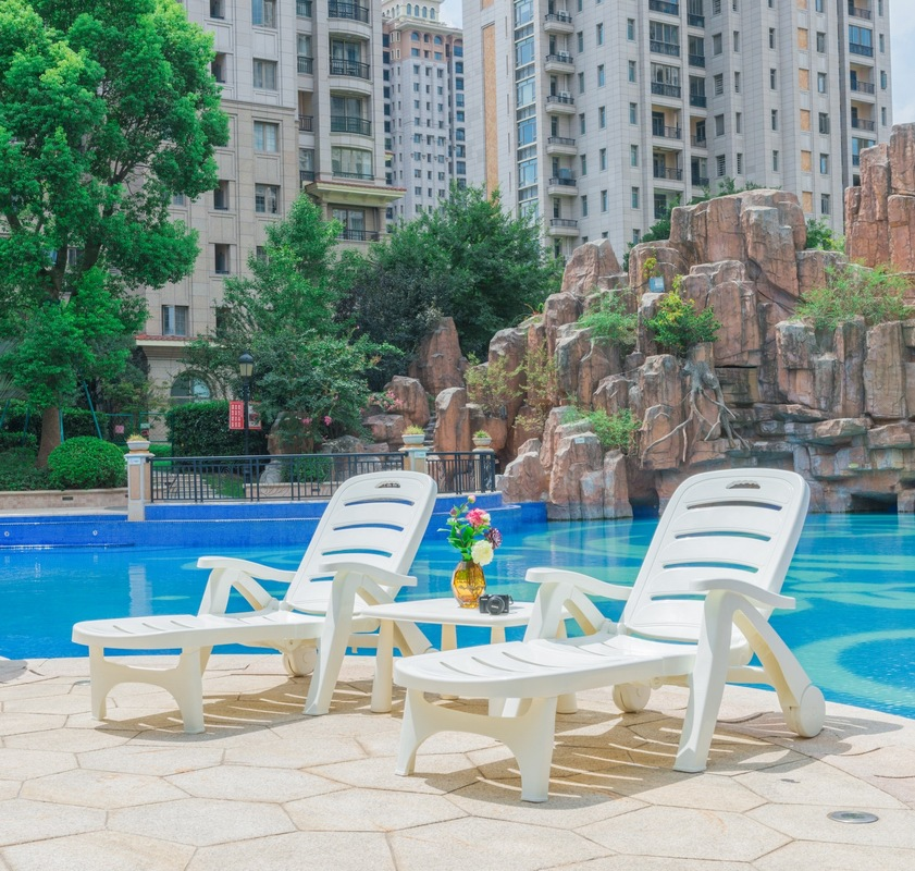 Original 1.9 M Sun Lounge Chair Table Thicken PP Home Funiture Folding Outdoor Bed Hotel Pool Beach Nap Long Chair Tables table