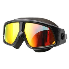 438de56ff Pró Confortável Silicone Grande Quadro Óculos de Natação Óculos de Natação  Anti-Nevoeiro óculos de