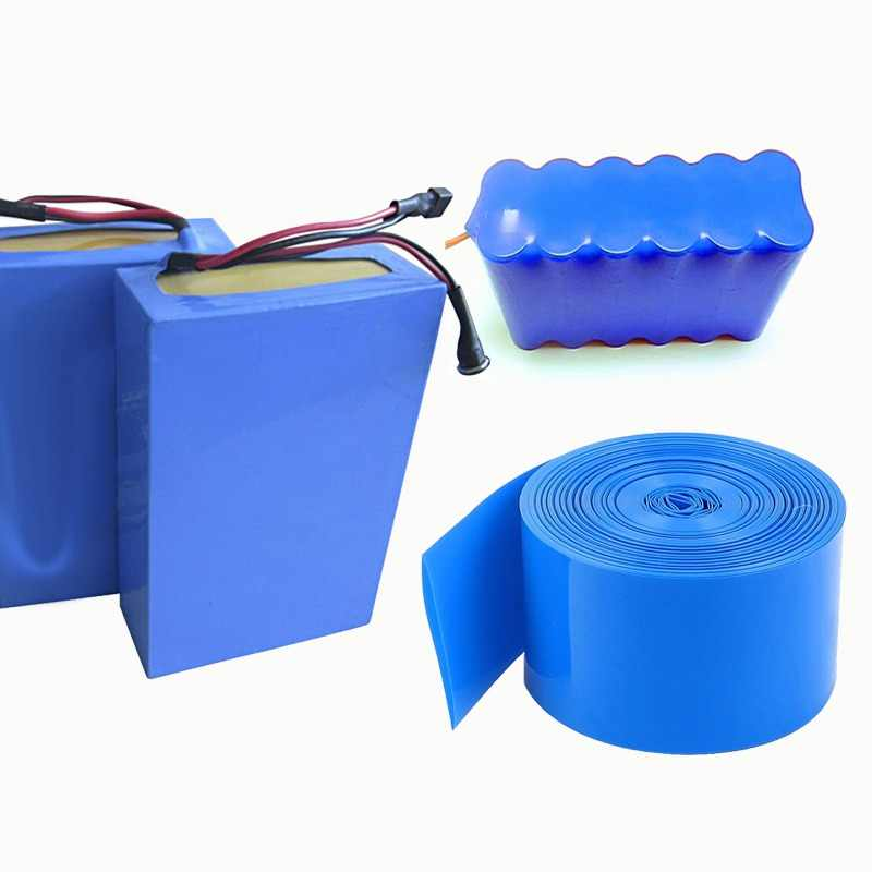 2M PVC heat shrink tube Shrink tube a variety of specifications 18650 battery shrink sleeve Insulation casing Heat shrink blue