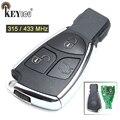 KEYECU 10x315/433 МГц смарт 3 кнопки Замена Новый умный дистанционный ключ-брелок от машины для Mercedes Benz до 2014